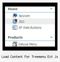 Load Content For Treemenu Ext Js Tree Navigation Menu Example