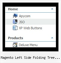 Magento Left Side Folding Tree Navigation Tree View Menue