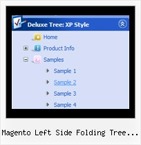 Magento Left Side Folding Tree Navigation Tree Sample Expand