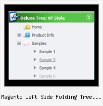 Magento Left Side Folding Tree Navigation Dynamic Menu Bar Tree