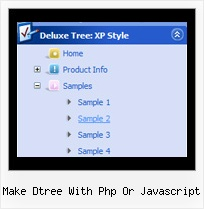Make Dtree With Php Or Javascript Tree Creating Pull Down Menus