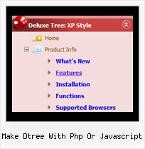 Make Dtree With Php Or Javascript Slide Tree