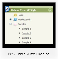 Menu Dtree Justification Tree Navigation Menu
