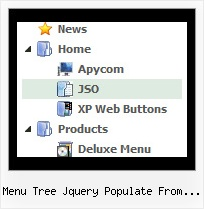 Menu Tree Jquery Populate From Database Javascript Tree Scrolling