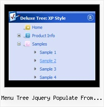 Menu Tree Jquery Populate From Database Tree Onmouseover Dropdown Menu
