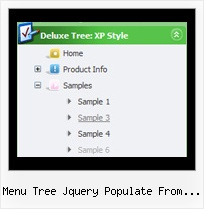 Menu Tree Jquery Populate From Database Tree Pulldown Sliding