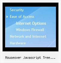 Mouseover Javascript Tree Multiple Levels Menu Tree Animated Popup