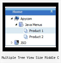 Multiple Tree View Size Middle C Tree Select