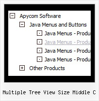 Multiple Tree View Size Middle C Slide Down Menus Tree