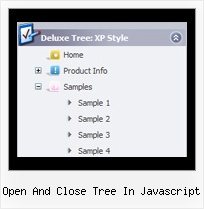 Open And Close Tree In Javascript Tree Side Menu