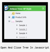 Open And Close Tree In Javascript Scroll Menu Tree
