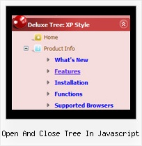 Open And Close Tree In Javascript Dynamic Tree Frames