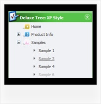 Outlook Style Html Expandable Tree Top Navigation Tree