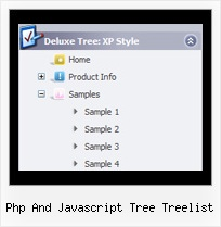 Php And Javascript Tree Treelist Menu Vertical Tree