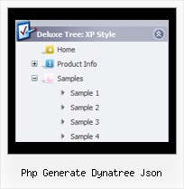 Php Generate Dynatree Json Tree Code Menu