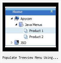 Populate Treeview Menu Using Javascript Menu Con Tree