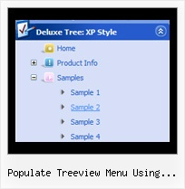 Populate Treeview Menu Using Javascript Tree Menu Slide Down