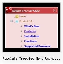 Populate Treeview Menu Using Javascript Tree Menu Editor