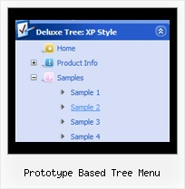 Prototype Based Tree Menu Menu Tree Java
