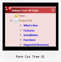Pure Css Tree Ul Javascript Xp Tree Menu