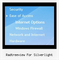 Radtreeview For Silverlight Menu Pull Down Tree