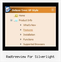 Radtreeview For Silverlight Tree Hover Menu