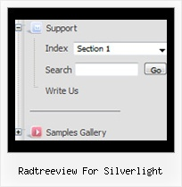 Radtreeview For Silverlight Tree Horizontal Menu Example