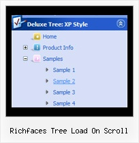 Richfaces Tree Load On Scroll Expandable Menu And Tree