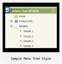 Sample Menu Tree Style Tree Frames Disabled