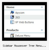 Sidebar Mouseover Tree Menu Effect Wordpress Cascading Menu Example Tree