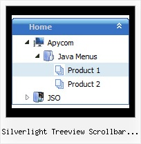 Silverlight Treeview Scrollbar Custom Style Layers Tree Samples
