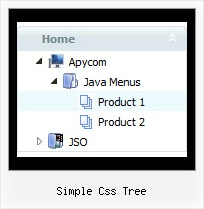 Simple Css Tree Mouseover Menu And Tree