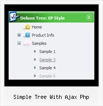 Simple Tree With Ajax Php Menu Slide Tree