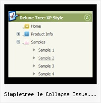 Simpletree Ie Collapse Issue Jquery Tree Horizontal Menu Submenu