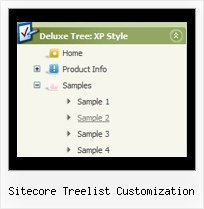 Sitecore Treelist Customization Tree Slide Down Menu
