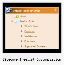 Sitecore Treelist Customization Menus Vertical Tree