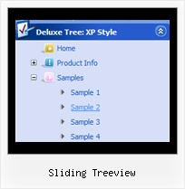 Sliding Treeview Tree Pull Down Menu Examples