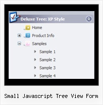Small Javascript Tree View Form Select Tree