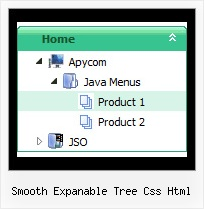 Smooth Expanable Tree Css Html Hover Tree Menu All Horizontal