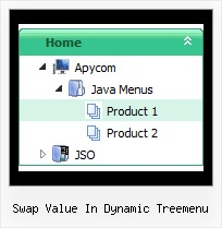 Swap Value In Dynamic Treemenu Collapsible Floating Layer Tree