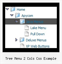 Tree Menu 2 Cols Css Example Rollover Drop Down Tree Dhtml
