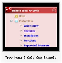 Tree Menu 2 Cols Css Example Tree Top Drop Down Menu