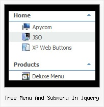 Tree Menu And Submenu In Jquery Tree View Transition
