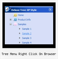 Tree Menu Right Click On Browser Tree Coolmenus Mit Frame
