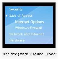 Tree Navigation 2 Column Iframe Tree File Example