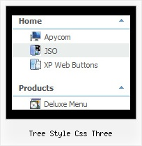 Tree Style Css Three Tree For Menu Frame