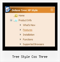 Tree Style Css Three Down Menu Tree View