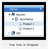 Tree View In Blogspot Tree Pulldown Menus