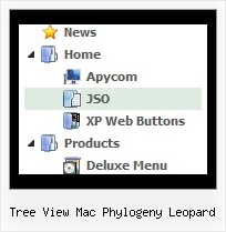 Tree View Mac Phylogeny Leopard Tendina Javascript Tree