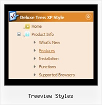 Treeview Styles Disable Menu Item Trees